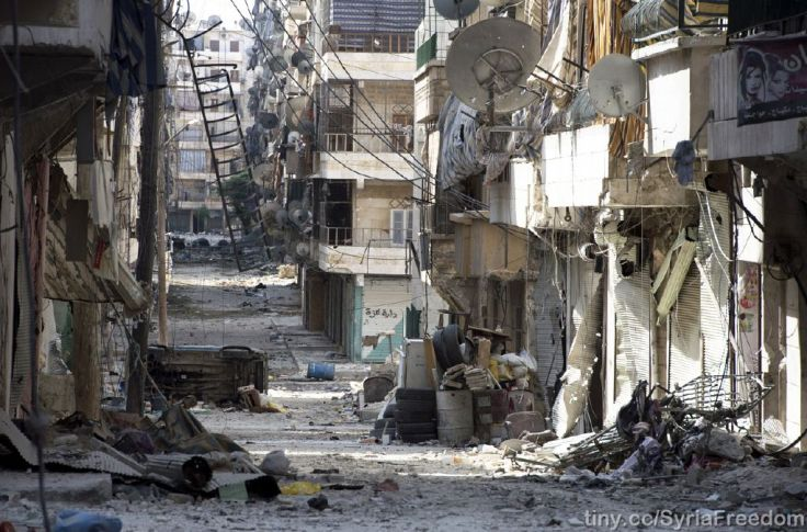 A scene in Salaheddin, Aleppo, Syria. PHOTO: Freedom House (CC BY 2.0).